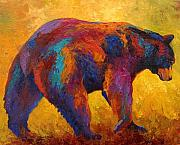 Wild Animals Paintings - Daily Rounds - Black Bear by Marion Rose