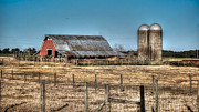 Alabama Crimson Tide Prints - Dairy Barn Print by Michael Thomas