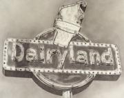Graphite On Paper Posters - Dairyland Poster by Paul Lachapelle