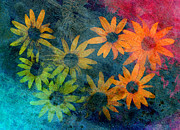 Abstract Nature Art Posters - Daisies  Poster by Ann Powell