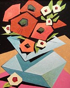 Cubists Posters - Daisies for You Poster by Ramon Ramirez