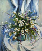 Beautiful Paintings - Daisies by Tigran Ghulyan