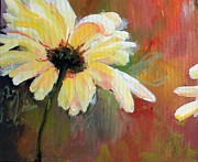Susan Fisher - Daisy 1 of 3 Triptych