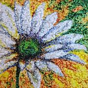 Impressionist Drawings Posters - Daisy Poster by Amanda Schambon