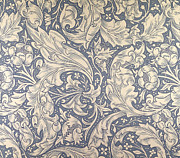 Textile Tapestries - Textiles Prints - Daisy Design Print by William Morris