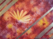 Sicily Mixed Media Prints - Daisy Fire 2 Print by Kathleen Pio