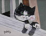 Cat Paw Posters - Daisy Poster by Paintings by Gretzky