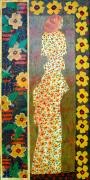 Female Tapestries - Textiles - Daisy Kimono by Leslie Marcus