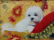 White Maltese Originals - Daisy Mae Le Mon by Roseanne Marie Peters