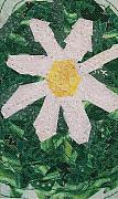White Flower Tapestries - Textiles Originals - Daisy by Pam Geisel