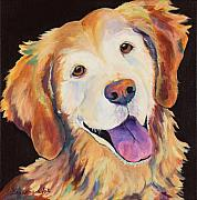 Canines Painting Framed Prints - Daisy Framed Print by Pat Saunders-White