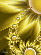 Gloss Digital Art - Daisy Sunshine by Karla White