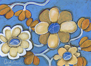 Folk Art - Daisy Vines by Cindy Davis
