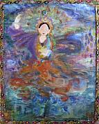 Tibetan Paintings - Dakini of Space by Alma Dankoff