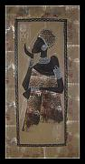 Woman Tapestries - Textiles Originals - Dako1 by Peter Otim Angole