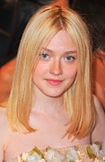 Alexander Mcqueen Framed Prints - Dakota Fanning At Arrivals Framed Print by Everett