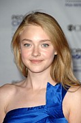 At Arrivals Prints - Dakota Fanning At Arrivals For Arrivals Print by Everett