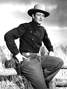 Western Shirt Framed Prints - Dakota, John Wayne, 1945 Framed Print by Everett