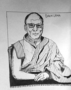 Novel Drawings - Dalai lama..part of graphic novel by Aprille Marie