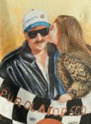 Sports Paintings - Dale And Kiss by Gabriel Porto
