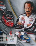 Nascar Paintings - Dale Earnhardt the last lap by Richard Klingbeil