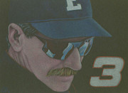Athletes Drawings - Dale by Leo Strawn Jr