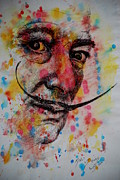 Water Colour Drawings - Dali by Lynn Hughes