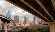 Dallas Skyline Metal Prints - Dallas Backside Metal Print by Robert Frederick