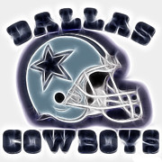Nfl Posters - Dallas Cowboys Helmet - Fantasy Art Poster by Paul Ward