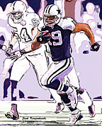 Austin Digital Art Posters - Dallas Cowboys  Miles Austin No19 Poster by Jack Kurzenknabe