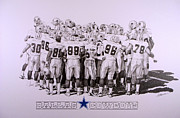 Helmet  Drawings Prints - Dallas Cowboys Print by Shawn Stallings