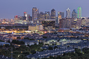 Office Space Metal Prints - Dallas Neighborhood in the Evening Metal Print by Jeremy Woodhouse