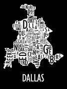 Metroplex Prints - Dallas Neighborhoods Print by Benjamin Kerr