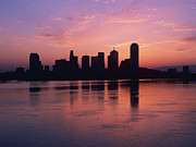 Office Space Metal Prints - Dallas Skyline at Dawn Metal Print by Jeremy Woodhouse