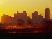 Floodplain Framed Prints - Dallas Skyline at Sunrise Framed Print by Jeremy Woodhouse