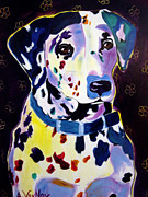 Dawgart Paintings - Dalmatian - Dottie by Alicia VanNoy Call