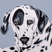 Pet Portraits Digital Art Posters - Dalmatian Poster by Slade Roberts