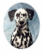 Dalmation Digital Art Posters - Dalmation 927 Poster by Larry Matthews