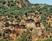 Tombs Digital Art - Dalyan Rock Tombs by Jane Meakings