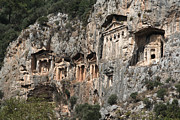 Ancient Ruins Prints - Dalyan Rock Tombs Turkey Print by Julie L Hoddinott