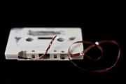Audio Prints - Damaged Cassette Print by Jouni Ta Ka