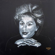 Soprano Painting Framed Prints - Dame Kiri Framed Print by Richard Le Page