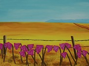 Fields Of Flowers Paintings - Dames Nues by Gracie Villareal