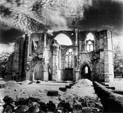 Black And White Photos Prints - Dammarie les Lys Abbey Print by Simon Marsden