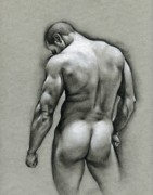 Male Drawings Framed Prints - Dan Framed Print by Chris  Lopez