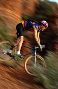Cycling Framed Prints - Dan Diez Mountain Biking Near Sedona Framed Print by Bill Hatcher