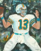 Dan Marino Prints - Dan the Man Print by Jorge Delara