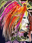 Hairstyle Digital Art - Dana by Myrtle WILSON