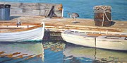 Boats In Water Paintings - Dana Point Harbor Boats by Sharon Weaver