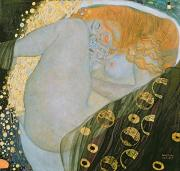 Portraits Oil Framed Prints - Danae Framed Print by Gustav Klimt